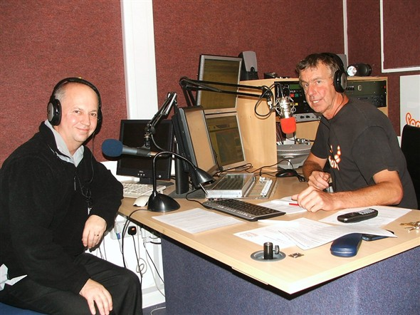 Photo:Seahaven FM's Garry Broom interviews Our Newhaven Editor Andy Gilbert