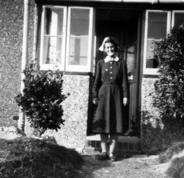 Photo:Standing in one of the original bungalow doorways - 1954