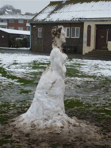 Photo:A Snow Lady - Fort Road
