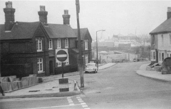 Photo:Dacre Road / Old police Station / South way Flyover under construction - c1970