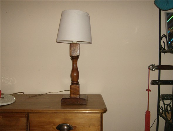 Photo:Turned balustrade, now converted into a table lamp!